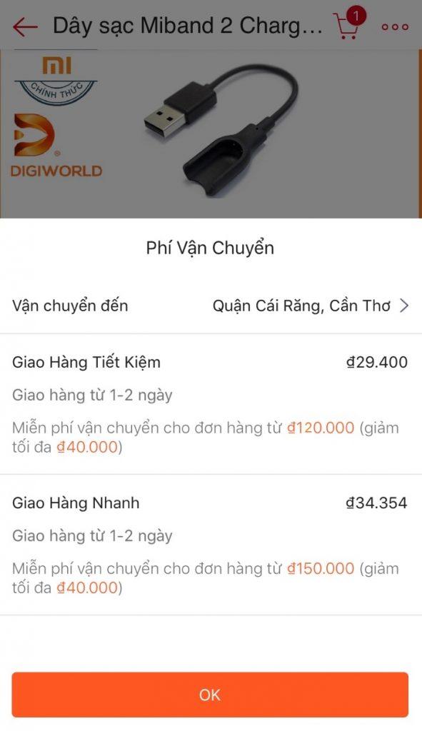 phi van chuyen tai shopee