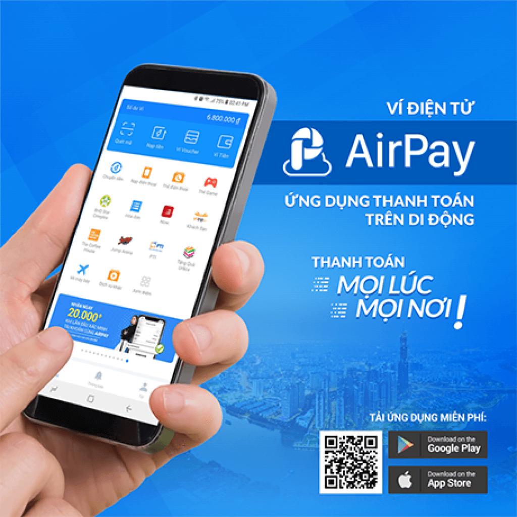 Ứng dụng Airpay có nhiều khuyến mãi dành cho người dùng mới