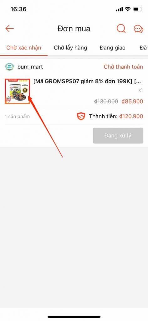 huy don hang shopee app