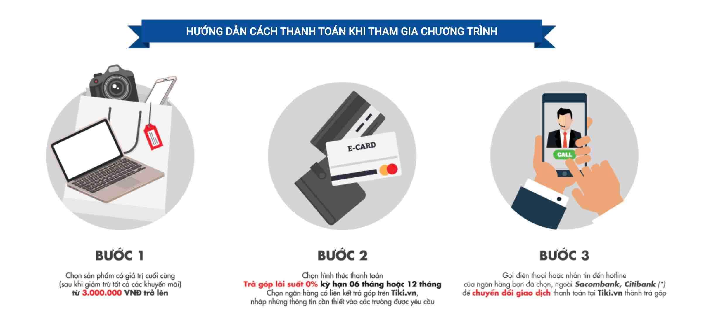 Quy trình mua hàng trả góp trên Tiki